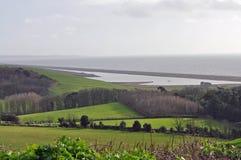 Jurassic coastline Dorset on foggy day Royalty Free Stock Images