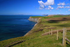 Jurassic Coastline, Dorset, UK. The Jurassic coastline of Dorset, England stock photography