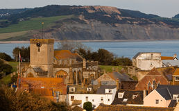 Jurassic Coastline and Seaside Town Royalty Free Stock Image