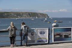 Jurassic coastline seen from Swanage Dorset UK Stock Images