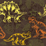 Jurassic dinosaur. Seamless vector pattern Royalty Free Stock Photography