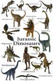 Jurassic dinosaurier stock illustrationer