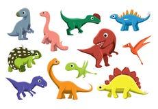 Jurassic Dinosaurs Cartoon Vector Illustration Stock Photos