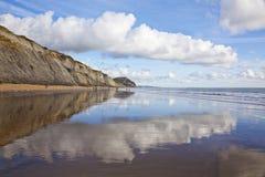 Jurassic kust fotografering för bildbyråer