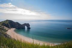 Jurassic kust p? sydkusten av England royaltyfri foto