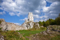 Jurassic limestone rocks - Polish Jura. Stock Photo