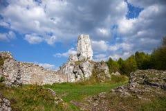Jurassic limestone rocks - Polish Jura. Stock Photo