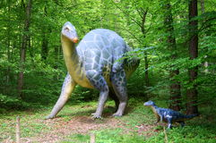 Jurassic Park - dinosaur monsters. Styrassic Park amid the gently-Styria green Royalty Free Stock Photos