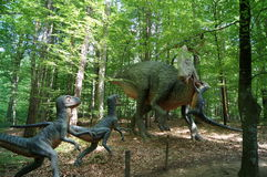 Jurassic Park - dinosaur monsters. Styrassic Park amid the gently-Styria green Stock Photography