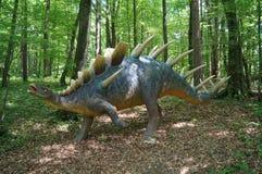 Jurassic Park - dinosaurs. Jurassic park in styria, austria, historical monsters Kentrosaurus in real size.Kentrosaurus is a genus of stegosaurid dinosaur Stock Image