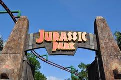Jurassic Park signage Arkivfoto