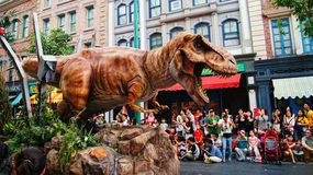 Jurassic Park Tyrannosaurus Dream Parade Stock Images