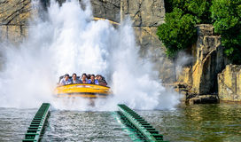 Jurassic Park water ride Stock Photo