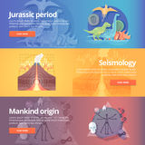 Jurassic period. Dinosaur age. Seismography science.  Royalty Free Stock Photos