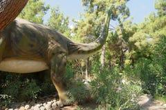 Jurassic period /156-145 för brachiosaurus-Sen miljon år sedan Arkivfoton