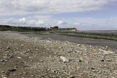 Jurassic period lias stone on Doniford beach, Exmoor, UK Royalty Free Stock Photography