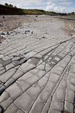 Jurassic period lias stone on Doniford beach, Exmoor, UK Royalty Free Stock Photo