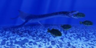Jurassic Plesiosaurus Ocean Royalty Free Stock Image