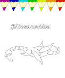 Jurassic reptile coloring page Royalty Free Stock Photos