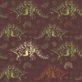 Jurassic Stegosaurus. Seamless vector pattern. Seamless pattern with dinosaur Stegosaurus Stock Photo