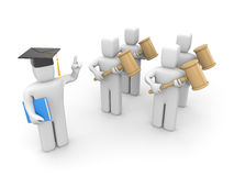 Jurastudent und Lektor oder Academic Lizenzfreie Stockbilder