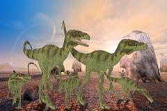 Juravenatordinosaurussen stock illustratie