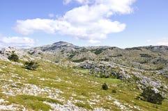 Jure peak. Biokovo Mountain with sveti jure peak Stock Photos