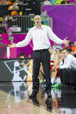 Jure Zdovc of Slovenia. Jure Zdovc, coach of Slovenia, at FIBA World Cup basketball match between Slovenia and Dominican Republic, final score 71-61, on Royalty Free Stock Image