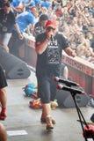 Jurek Owsiak на 23rd церемонии открытия Польши фестиваля Woodstock Стоковая Фотография RF