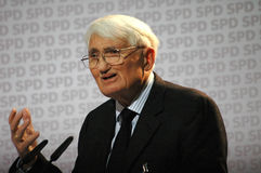 Jurgen Habermas stock image
