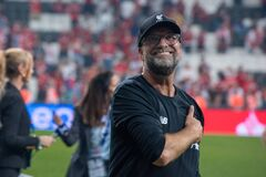 Jurgen Klopp manager of Liverpool at the end of the UEFA Super Cup match between Liverpool and Chelsea at Vodafone Park