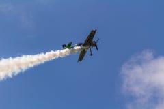 Jurgis Kairys Aerobatic przedstawienie Zdjęcie Royalty Free