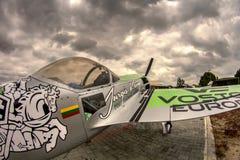 Jurgis Kairys Aerobatic samolot Zdjęcie Royalty Free
