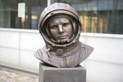 Juri Gagarin Monument. Monument of Yuri Alekseyevich Gagarin  a Russian-Soviet pilot and cosmonaut Stock Photo