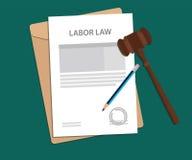 Juridisch begrip van arbeidsrechtillustratie stock illustratie