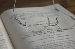 juridisk lawbook Arkivbilder