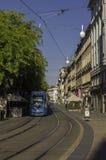 Jurisiceva街道和电车 库存图片
