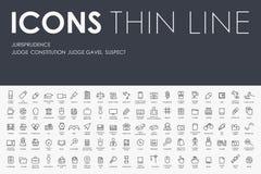 Jurisprudence Thin Line Icons Royalty Free Stock Photo
