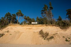 Jurkalne bluffs. Famous Jurkalne Seashore Bluffs in Kurzeme, Latvia Stock Image