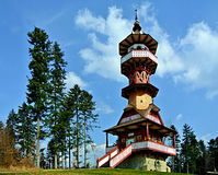 Jurkovic lookout tower. In Roznov pod Radhostem Stock Image