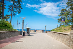 Jurmala Латвия около пляжа стоковая фотография rf