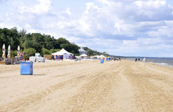 Jurmala,august 23 2014-Baltic Sea Beach from Jurmala in Latvia Royalty Free Stock Image