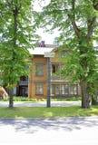Jurmala, am 23. August 2014 - Sommer-Haus fom Jurmala-Erholungsort in Lettland Lizenzfreies Stockbild
