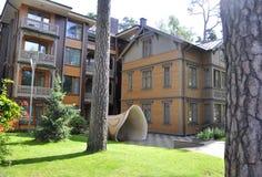 Jurmala, am 23. August 2014 - Sommer-Haus fom Jurmala-Erholungsort in Lettland Stockfotos