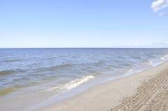 Jurmala, 23 augustus de 2014-Oostzee Strandtoevlucht in Letland Stock Foto's