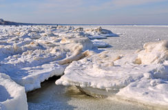 Jurmala Baltic Sea ice Royalty Free Stock Photo