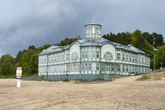 Jurmala bath house. Former bath house of E.Racene built during 1911-1916 in Jurmala, Latvia. It was possible to take a bath with the warmed-up sea water royalty free stock images