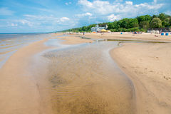 Jurmala beach. Jurmala quiet beach in spring season royalty free stock photography