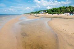 Jurmala beach Royalty Free Stock Photography