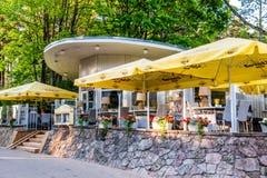 Jurmala cafe near main beach Stock Photo